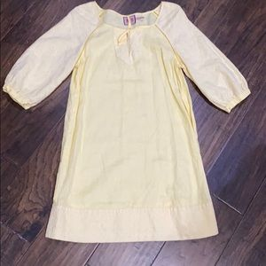 Juicy Couture 100% linen yellow dress